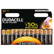 Alkaline battery AA LR6 Duracell Plus Power - blister of 12