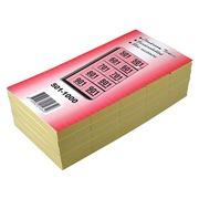Carnets pour vestiaire numéros de 501 à 1.000, jaune