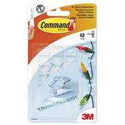 Bande adhésive 3M Command 17026CLR 20 clips déco