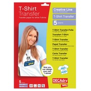 Decadry T-shirt Transfer Paper pour textile blanc ou clair
