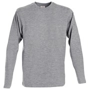 Printer Heavy T L/S Grey 4XL