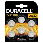 Special lithium coin cell battery Duracell 2032 3 V pack of 6 (DL2032/CR2032)