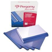 Pergamy couvertures thermiques ft A4, 1,5 mm, paquet de 100 pièces, bleu, grain cuir