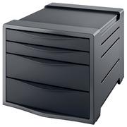 Esselt bloc à tiroirs Vivida 4 tiroirs, noir