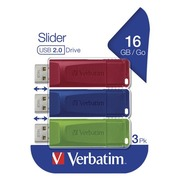 Verbatim Slider - USB-flashstation - 16 GB