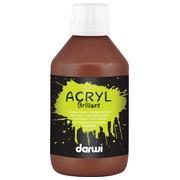 Darwi peinture acrylique brillante, flacon de 250 ml, brun foncé