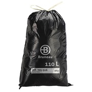Garbage bag 110 L superior quality with drawstring Bruneau - box of 100