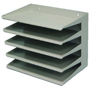 Etagère trieur 5 compartiments gris