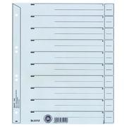 Divider Leitz 1650 cardboard 200g A4 4 perforations grey