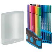 Stabilo feutre Pen 68 ColorParade, bleu et gris, 20 pièces