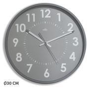 Horloge murale couleur Ø 30 cm - A quartz - gris