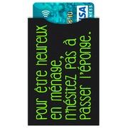 Paquet de 5 étuis protège carte bancaire anti-RFID décor