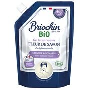 Recharge savon gel pour les mains lavande et romarin Briochin - Flacon 400ml
