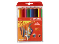 Case 18 colour pencils Stabilo of which 3 fluo