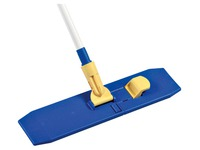 Wiper mop support for flat cleaning with pocket system + cotton mop