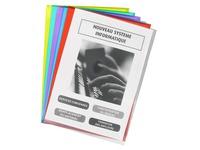 Chemise coin plastique Bruneau A4 PVC 20/100e couleurs assorties - Boîte de 100