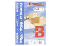 Box of 2800 address labels Bruneau white 105 x 42 mm for inkjet printer
