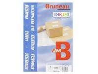 Box von 1600 Adressetiketten Bruneau weiß 105 x 70 mm für Tintenstrahldrucker