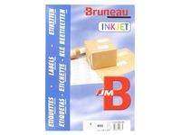 Etiquette adresse jet d'encre 105 x 148,5 mm Bruneau blanche - Boîte de 800