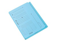 Pack of 25 index folders, blue