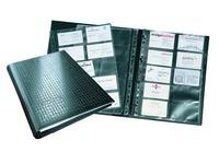 Classeur cartes de visite Durable Centium 25,5 x 31,5 cm noir - 400 cartes