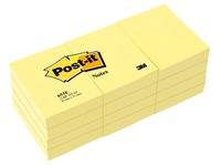 Post-it block, yellow 38 x 51 mm - block of 100 sheets