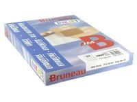 Etiquette adresse jet d'encre 70 x 35 mm Bruneau blanche - Boîte de 4800