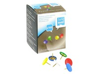 Box 100 thumbtacks, assorted colours