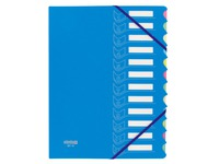 Eckspann-Sammelmappe Extendos in 2 Materialien mit 12 Unterteilungen - farbig sortiert