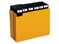 Game of 50 guide cards 105 x 148 mm Exacompta yellow