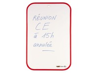 Double sided whiteboard 44 x 30 cm red frame
