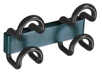 Saga wall hanger 2 coloured double hooks black