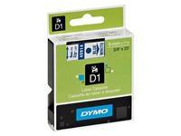 Beschriftungsband Polyester Dymo D1 S0720690 6 mm weiß met blauem Text