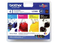 Pack 4 cartridges Brother LC980 black + colours