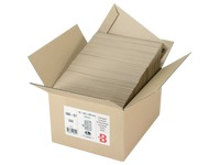 Box of 500 administrative sleeves Bruneau in brown kraft without window 162 x 229 mm with protective strip