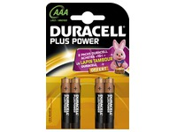 Pile Alcaline AAA LR3 Duracell Plus Power - Blister de 4