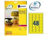 Box of 960 super strong labels Avery L6103 45,7 x 21,2 mm yellow for laser printer