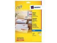 Package of 720 address labels Avery J 8161 white 63,5 x 46,6 mm for inkjet printer