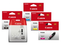 Pack of 5 cartridges Canon PGI 550 + CLI 551 black + color