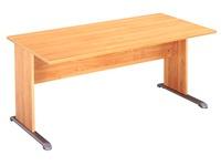 Desk, alder top 120 cm, L legs