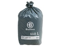 Cardboard, 200 plastic bags of standard quality < BR > 100 litres, 55 microns