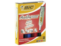 Permanent marker Bic Onyx Marker Mini slanted point 2.7 to 6.2 mm - Pack of 4 assorted colours