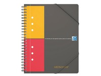 Spiral notebook Oxford Meetingbook size A5 checked 5 x 5 160 pages