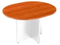 Table de réunion ovale Excellens plateau merisier pieds en croix