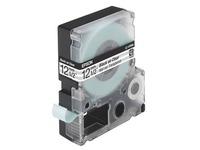 Lint Epson 12 mm LC 4TBN9 transparant met zwarte tekst