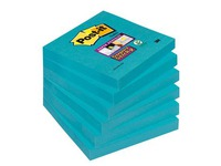 Notes one colour electric blue Super Sticky Post-it 76 x 76 mm - block of 90 sheets