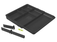 Plastic organizer for drawers Exacompta black