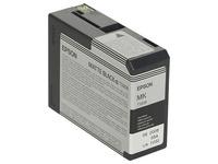 Epson T5808 - dof zwart - origineel - inktcartridge (C13T580800)