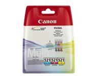 Canon CLI-521 C/M/Y Multi pack - 3 - geel, cyaan, magenta - origineel - inkttank