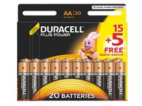 15 AA-batterijen - LR6 Duracell Plus Power + 5 gratis